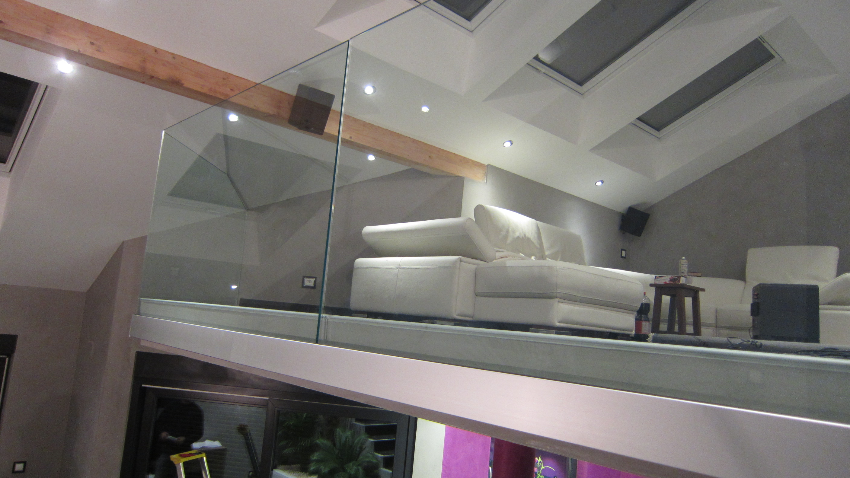 Garde corps tout verre afdesign le blog - Fermeture mezzanine verre ...